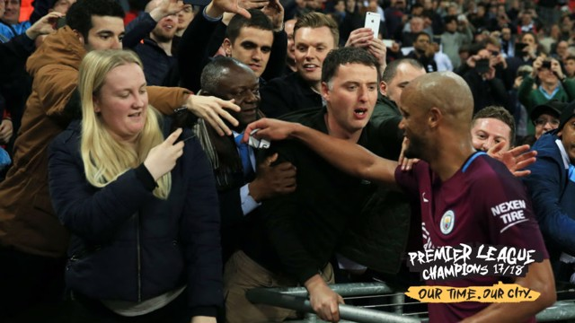 CHAMPIONS: CityTV went round to Vincent Kompany's in-laws to watch his reaction to the United-West Brom game