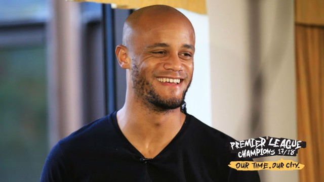 CHAMPIONS: Captain Vincent Kompany has a message for the City fans
