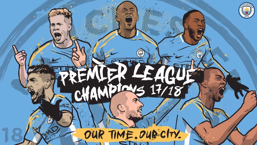 City win Premier League title!
