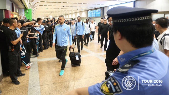 BEIJING BOYS: A great reception for the lads