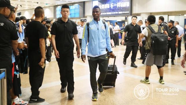 KELECHI: Nigerian star upon arrival in Beijing