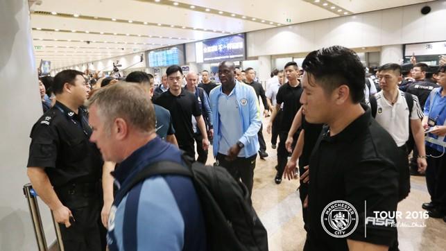 MAKE WAY: Yaya arriving in Beijing