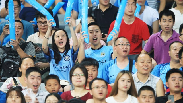 COME ON CITY: The Blues had plenty of backing throughout the match.