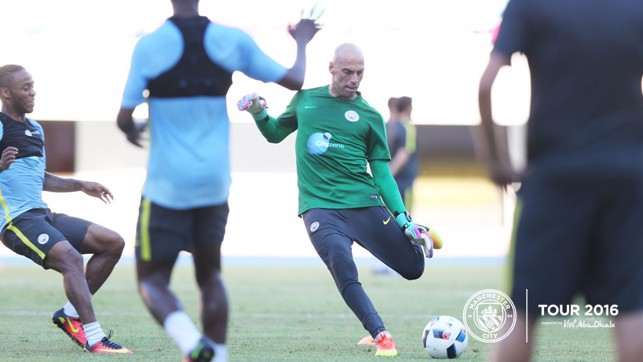 KEEPERS': Caballero has been in fine form this pre-season