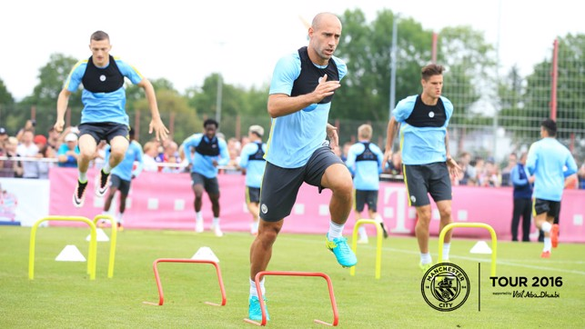 FOCUSED: Pablo Zabaleta in the zone