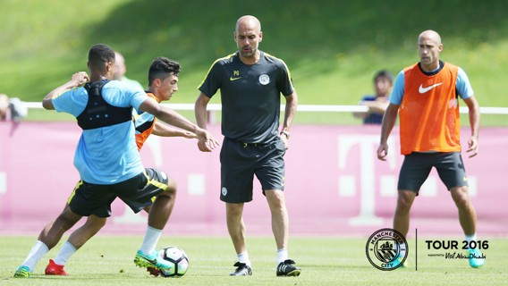 ADVICE: Pep Guardiola offers some guidance