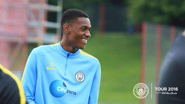 ALL SMILES: Tosin Adarabioyo gets the giggles