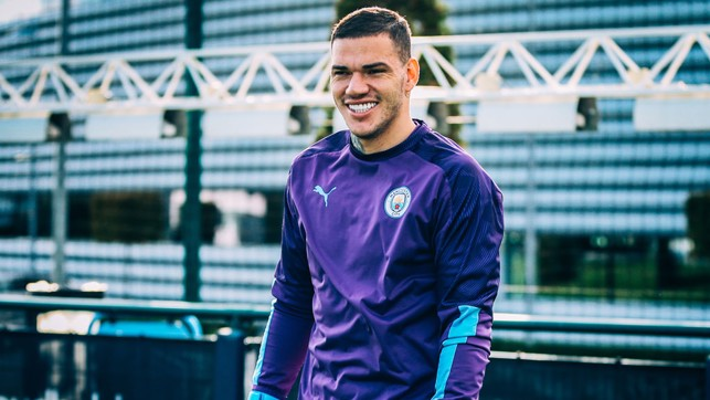 HAPPY TO BE BACK: Ederson flashes a smile our way.