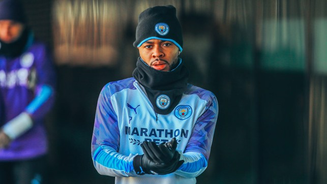 WRAP UP: Raheem is ready and layered up!