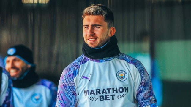 ALL SMILES: Aymeric Laporte is edging every closer to a comeback...