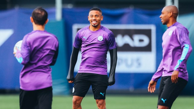 CENTRE OF ATTENTION: Gabriel Jesus looks primed and ready for action!