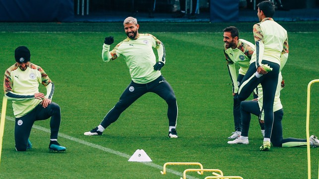 CENTURION?: Sergio Aguero's next appearance in UEFA club competition will be his 100th