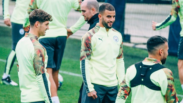 WALKER INTO TRAINING LIKE: Great to see Kyle Walker back, after missing Saturday's trip to Crystal Palace
