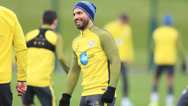 SMILE: Sergio was a happy man during training