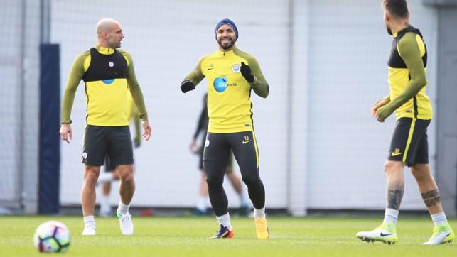 HAPPY FACE: Sergio Aguero is full of joy