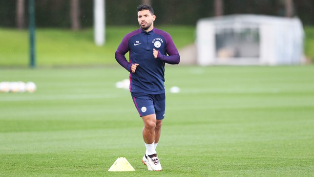 SUPER SERGIO: Aguero will be hoping to gun down Everton