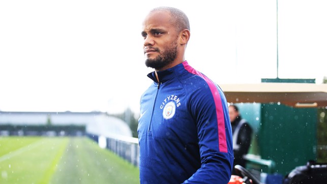 GOOD KOMPANY: Vincent looks ready for action