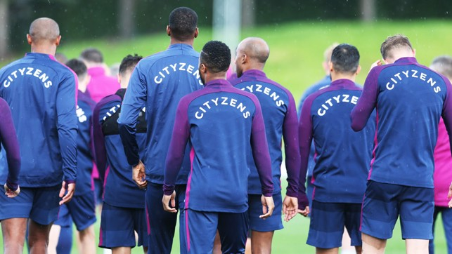 SOLIDARITY: The Blues squad take a minute to remember the victims of the Barcelona terror attacks
