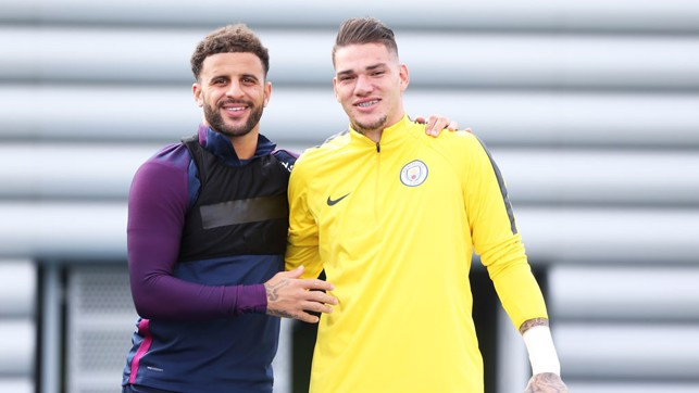 SPOTTED: Ederson and Kyle Walker catch our photographer's eye.