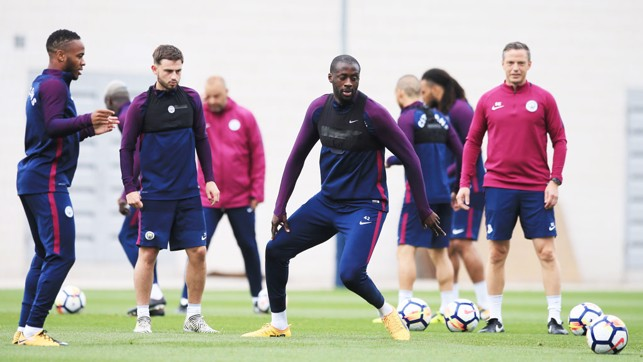MAN IN THE MIDDLE: Yaya Toure controls the middle