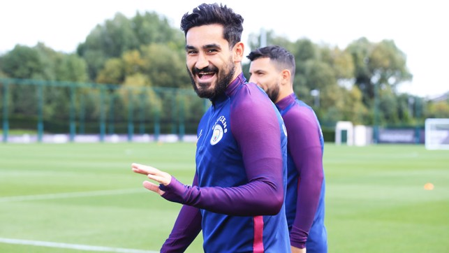 GUNDO: Ilkay Gundogan training with the squad
