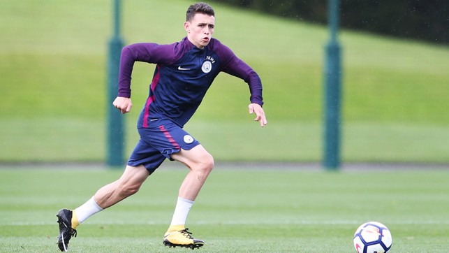 BOY BLUE: Phil Foden in action
