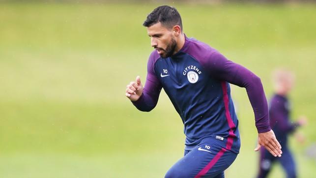 SPRINT: Sergio Aguero picks up the pace