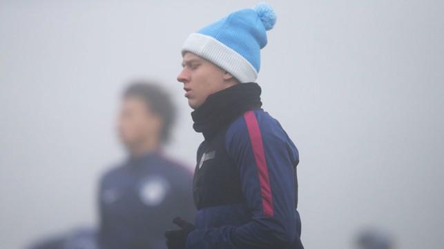 BLUE CHRISTMAS: We're big fans of Oleks Zinchenko's festive headwear