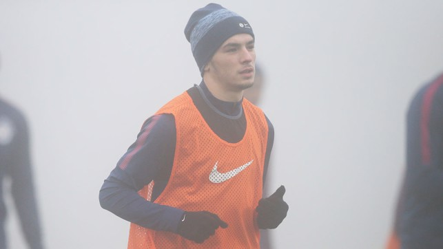 YOUNG-STAR: Another hat on show, this one sits atop Brahim Diaz's head