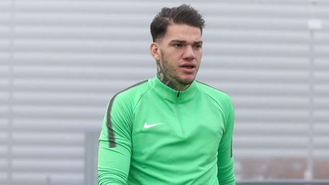'KEEPING COOL: Ederson takes a look around