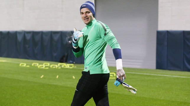 STEADY EDDIE: Thumbs up from Ederson