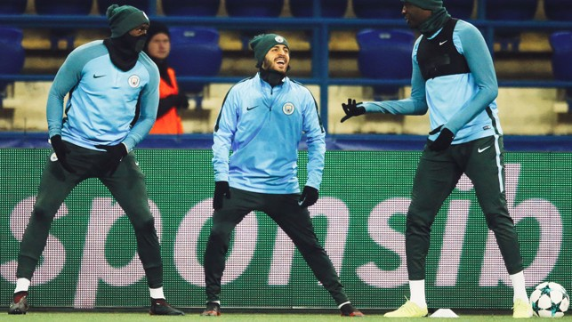 STRETCH: Something's tickled Bernardo.