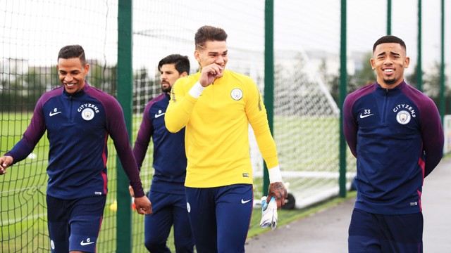 DAY ONE: Ederson all set for his first day at City.