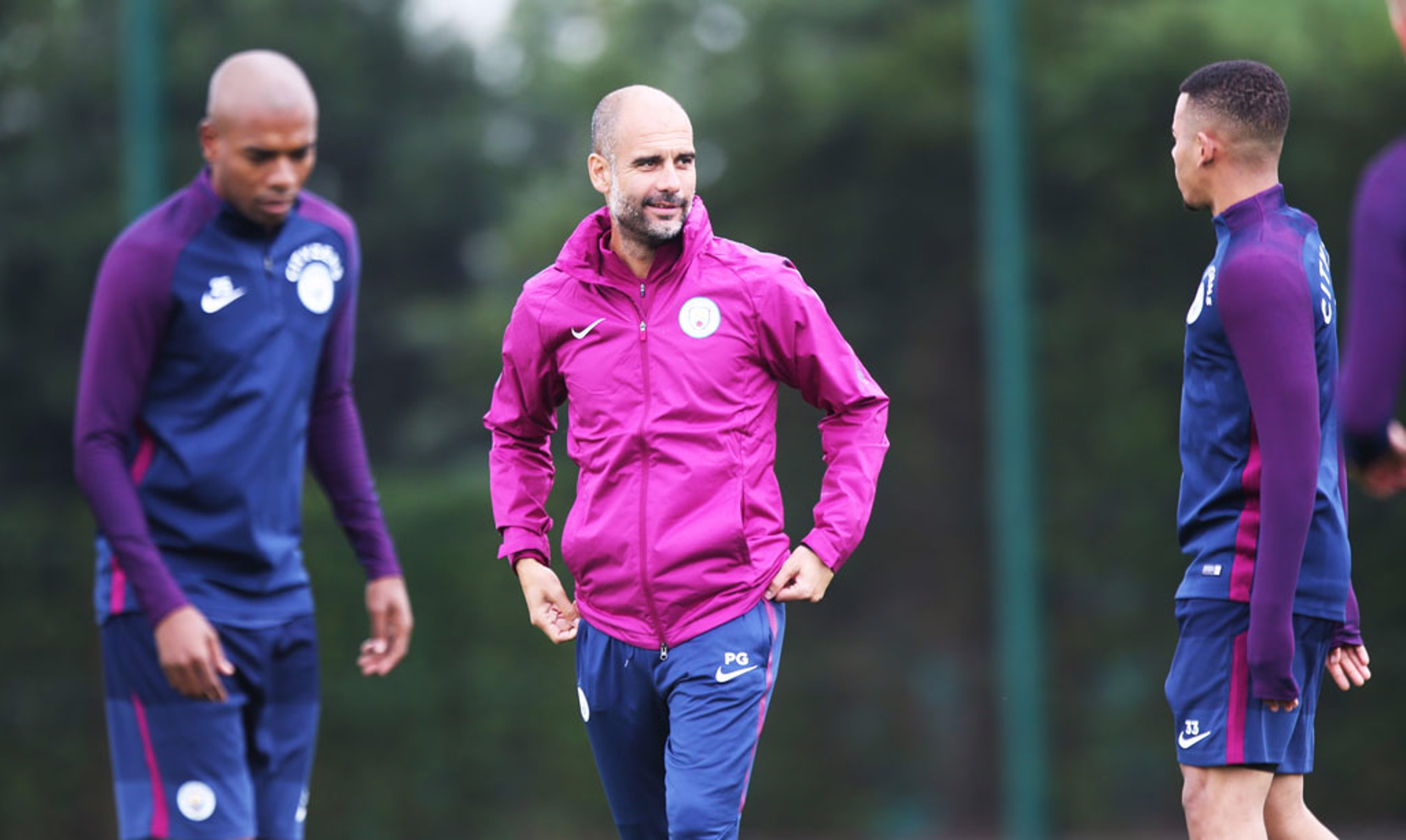 BOSS: Great to see Pep back on the training ground.