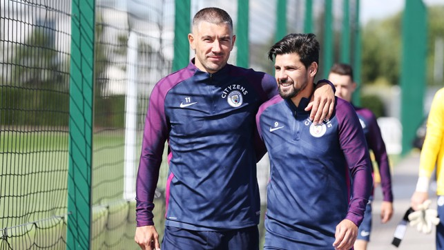 DAY THREE: Aleks Kolarov and Nolito head to the pitches