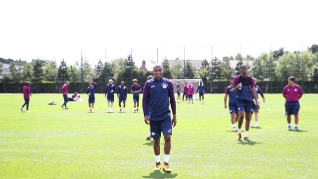 JOB DONE: Fernandinho heads off after training