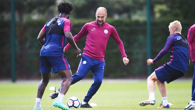 STILL GOT IT: Pep holds his own during the session