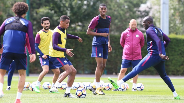STANDING TALL: Tosin Adarabioyo in the middle