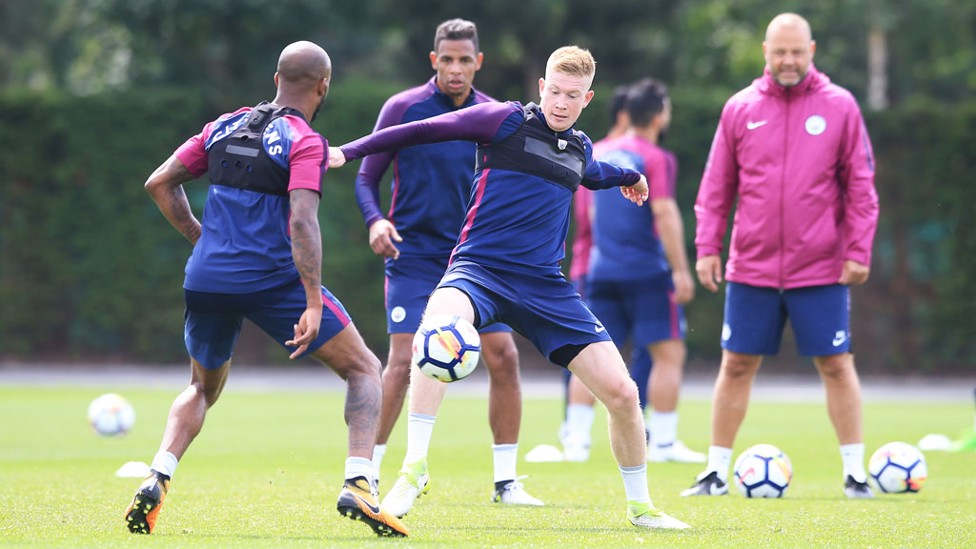MINE: KDB goes after the ball