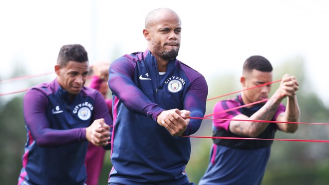 CAPTAIN: Kompany leads by example