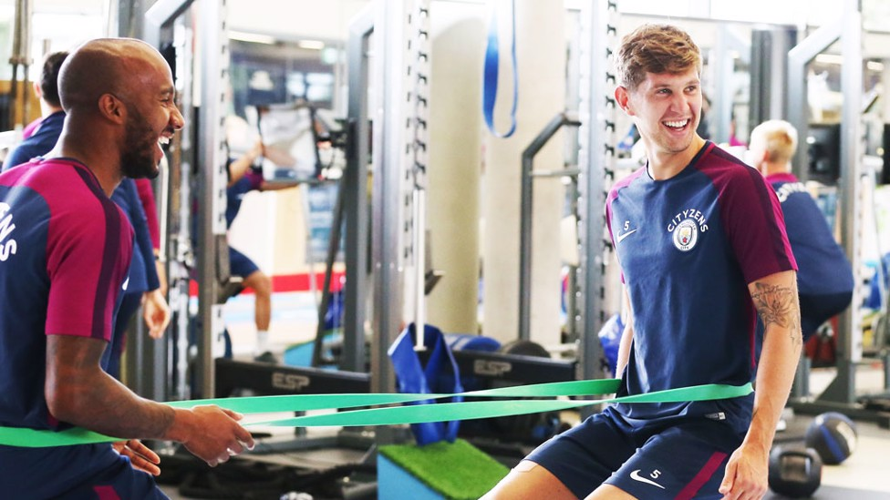 ON THE PULL: Fabian Delph and John Stones
