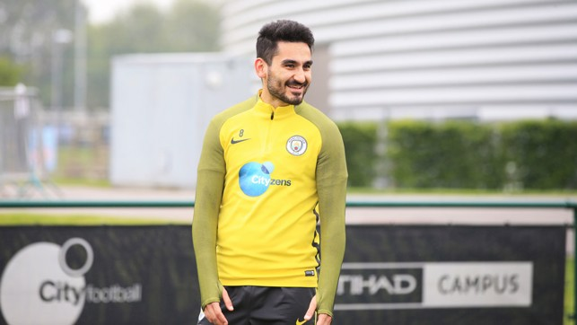ON THE PITCH: The latest milestone in Gundogan's recovery process.
