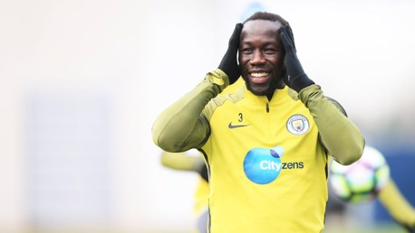 FIGHTING SPIRIT: Sagna is impressed with the character in the City squad
