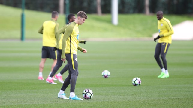 BALL WORK: John Stones takes control