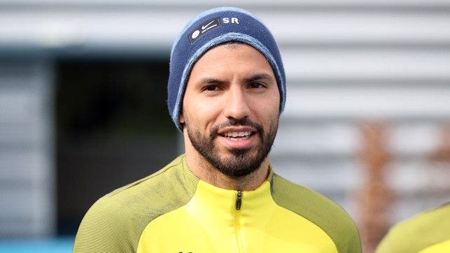 SERGIO: A smile from Mr. Aguero on his way to work