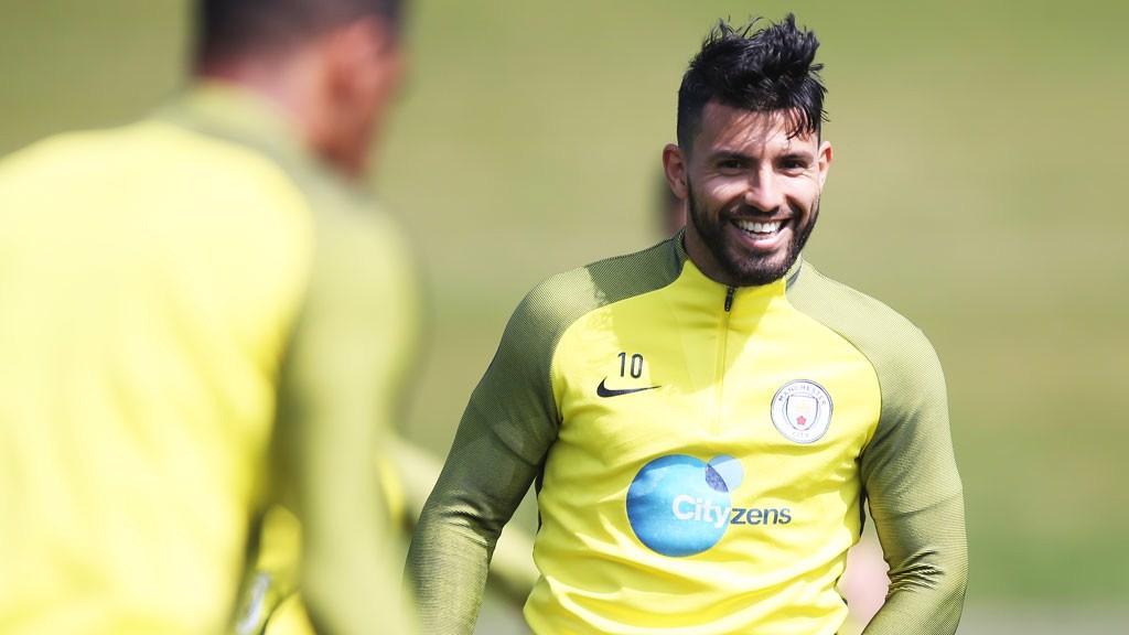 Sergio Aguero And John Stones Train Ahead Of Man City V