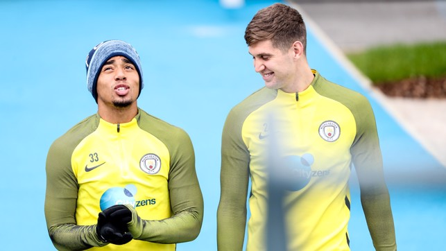 ATTACK AND DEFENCE: Gabriel Jesus and John Stones
