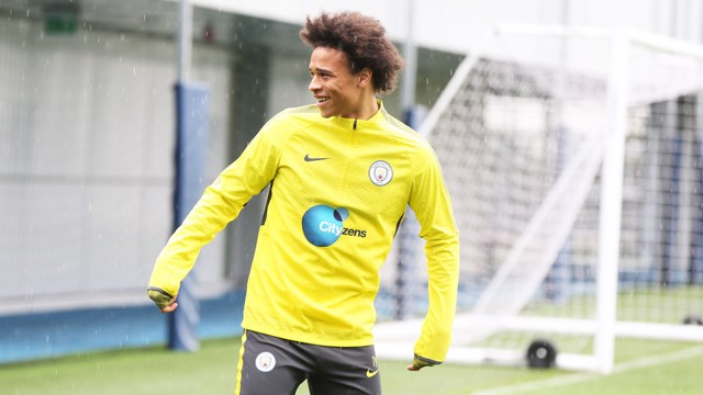 SUPER SANÉ: Happy days for Leroy.