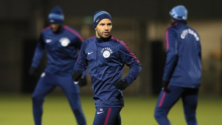 SUPER SERG: Sergio Aguero is fit after Tuesday's scare