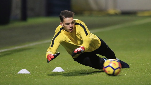 YOU SHALL NOT PASS: Ederson is not letting that ball pass him